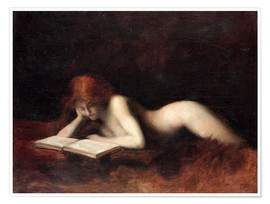 Premium poster  The Reader - Jean-Jacques Henner