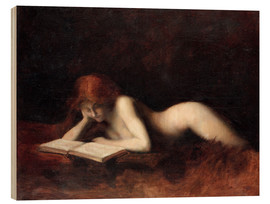 Wood print  The Reader - Jean-Jacques Henner
