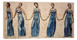 Wood print  A view into infinity - Ferdinand Hodler