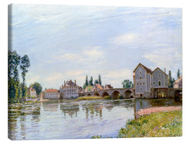 Canvas  River and Bridge, Moret - Alfred Sisley