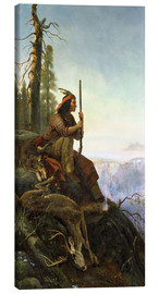Canvas print  The signal fire (Indian after the hunting) 1880 - William Hahn