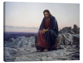 Canvas print  Christ in the desert - Ivan Nikolaevich Kramskoy
