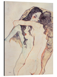 Aluminium print  Two women in embrace - Egon Schiele