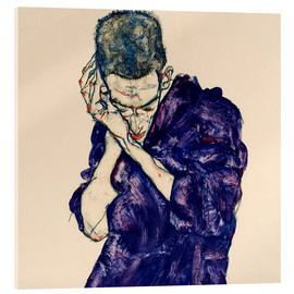 Acrylic glass  Youth with violet frock - Egon Schiele