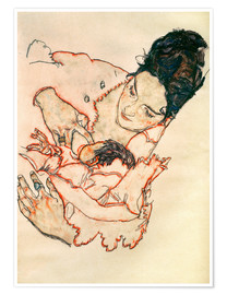 Premium poster  Nursing Mother (Stephanie Gruenwald) - Egon Schiele