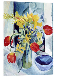 Acrylic glass  Still life with tulips - August Macke