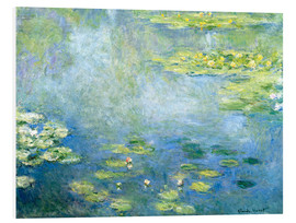 Foam board print  Lily pond - Claude Monet