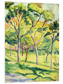 Foam board print  Trees on a lawn - August Macke