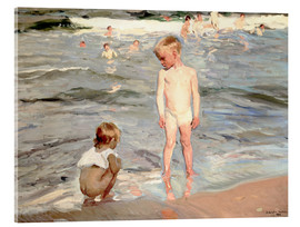 Acrylic glass  Children on the beach of Valencia - Joaquin Sorolla y Bastida