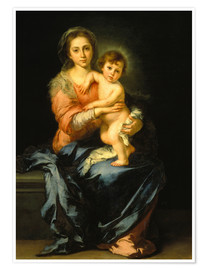 Premium poster  Madonna and Child - Bartolome Esteban Murillo