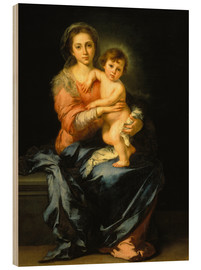 Wood  Madonna and Child - Bartolome Esteban Murillo