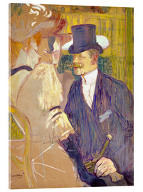 Acrylic print  The Englishman at the Cabaret - Henri de Toulouse-Lautrec
