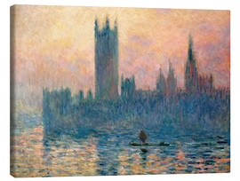 Canvas print  Parliament in London at sunset - Claude Monet