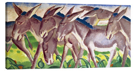 Canvas  Donkey Fries - Franz Marc