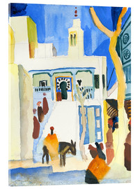 Acrylic print  A Mosque - August Macke
