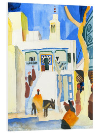Foam board print  A Mosque - August Macke