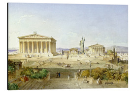 Alu-Dibond  The Acropolis at Pericles' time - Ludwig Lange