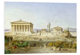 Foam board print  The Acropolis at Pericles' time - Ludwig Lange