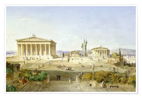 Premium poster The Acropolis at Pericles' time