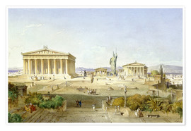 Premium poster  The Acropolis at Pericles' time - Ludwig Lange