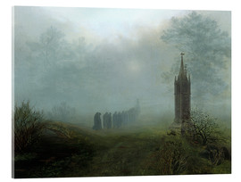 Acrylic print  Procession in the fog - Ernst Ferdinand Oehme