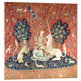 Acrylic glass  The Lady and the Unicorn: The sense of sight