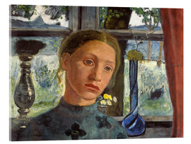 Acrylic print  A girl's head in front of a window - Paula Modersohn-Becker