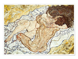 Poster  The Embrace - Egon Schiele