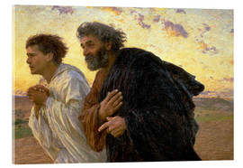 Acrylic print  Morning of the resurrection, Peter and John on their way to the grave - Eugene Burnand