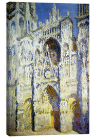 Canvas  Rouen Cathedral, with tower Saint-Romain in sunlight - Claude Monet