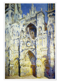 Premium poster Rouen Cathedral, with tower Saint-Romain in sunlight