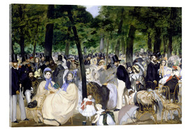 Acrylic print  Music in the Tuileries - Edouard Manet