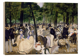 Wood print  Music in the Tuileries - Edouard Manet