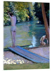 Acrylic glass  Bathers on the banks of the Yerres - Gustave Caillebotte