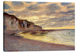 Canvas print  Low tide at Pointe de L'Ailly - Claude Monet