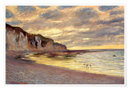 Poster  Low tide at Pointe de L'Ailly - Claude Monet