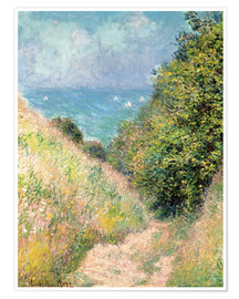 Poster  Narrow pass near Pourville - Claude Monet