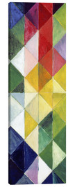 Canvas print  Coloured checks - August Macke