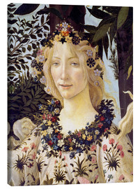 Canvas print  The spring, the head of the Flora - Sandro Botticelli