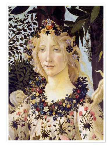Premium poster The spring, the head of the Flora