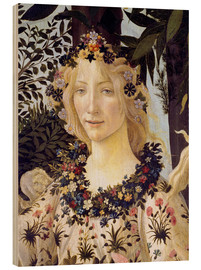 Wood print  The spring, the head of the Flora - Sandro Botticelli