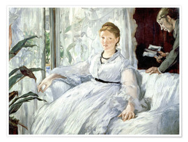 Premium poster Madame Manet and her son Léon