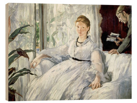 Wood print  Madame Manet and her son Léon - Edouard Manet
