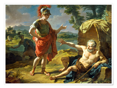 650893241118 Alexander und Diogenes. 1818 Posters and Prints