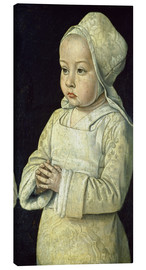 Canvas print  Suzanne de Bourbon (the child praying) - Master of Moulins