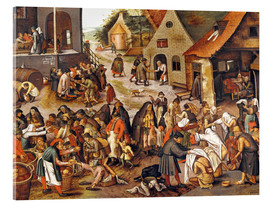 Acrylic print  The Seven Acts of Mercy - Pieter Brueghel d.J.