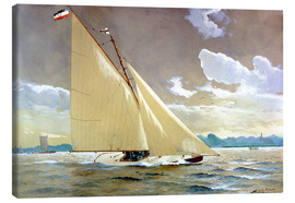 Canvas print  The sailing boat Henny III. - Willy Stöwer