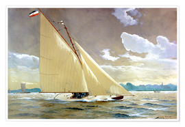 Premium poster  The sailing boat Henny III. - Willy Stöwer