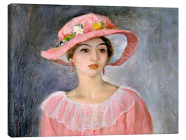 Canvas print  The pink hat - Henri Lebasque