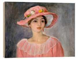 Wood  The pink hat - Henri Lebasque